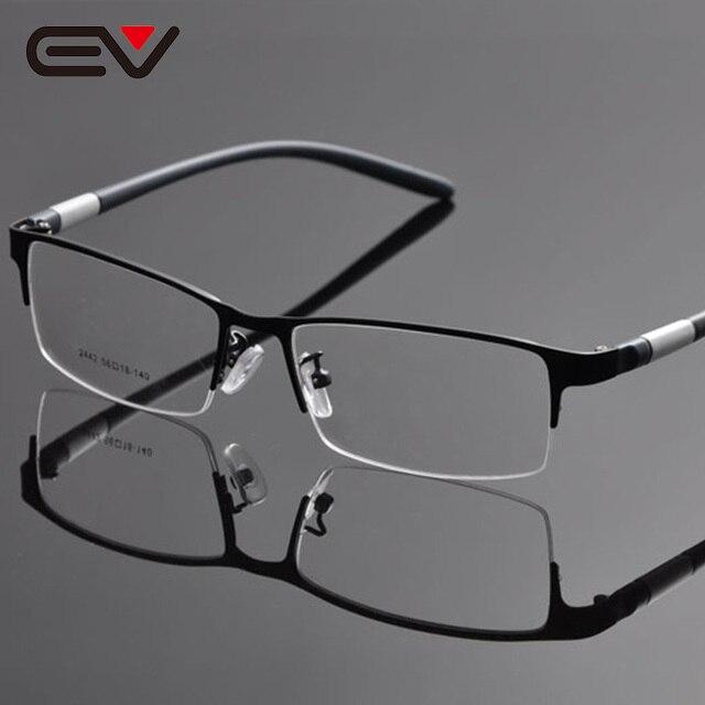 Homem Óculos Metade Aro Da Armação Óculos Frames Opticos Homens Chifre de  Búfalo Óculos Armações Oculos b5a872f5be