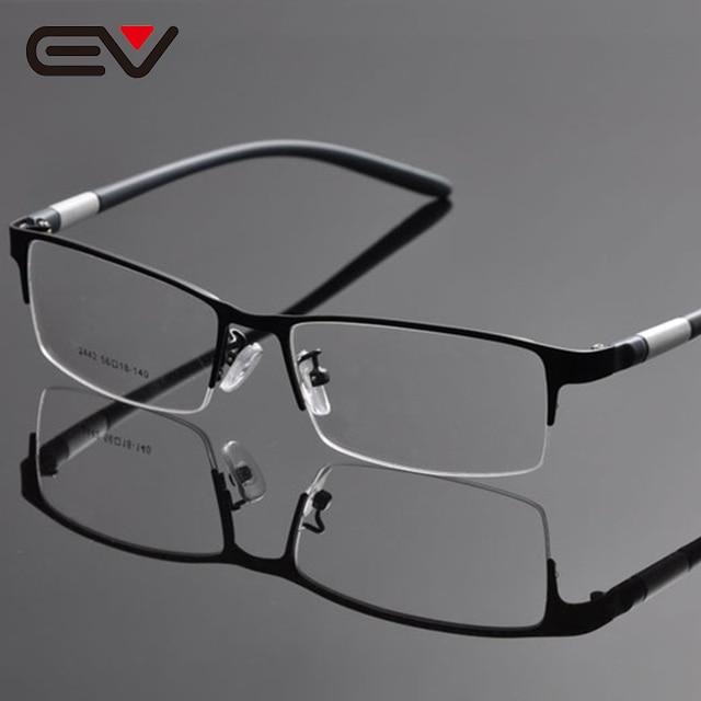 Man Glasses Frame Half Rim Opticos Eyeglasses Frames Men Buffalo Horn Glasses Optical Frames Oculos De Grau Masculino EV1054