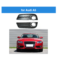 A Pair Front Bumper Fog Light Lamp cover For Audi A5 Racing Grille Grill Cover For Audi A5 Chrome Trim 2009 2010 2011