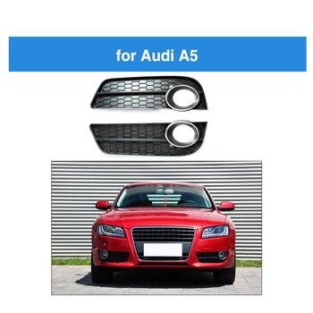 Para przedni zderzak światła przeciwmgielne lampy klosz do Audi A5 Racing Grille Grill klosz do Audi A5 chromowane wykończenie 2009 2010 2011