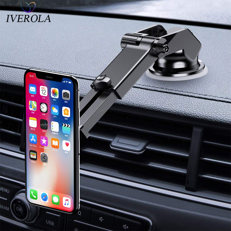Univerola Magnetic Car Phone Holder Mobile Phone Stand  Holder For Car Windscreen Dashboard Strong Magnet Stand For IPhone X 8