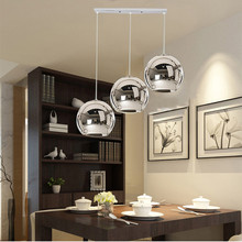 3X Kitchen Pendant Lighting Silver Glass Modern Pendant Lights Bedroom Lighs Fixture Home Bar Hotel Pendant Ceiling Lamp цена в Москве и Питере
