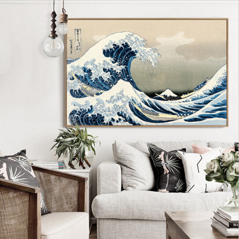 The Great Wave Off Kanagawa Poster Japanese Home Accessories Decorative Painting Art Canvas Poster Wallpaper Printing