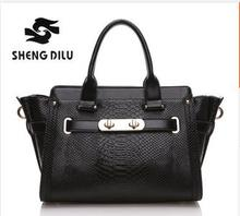 2015 Vintage 6 Color Serpentine Portable Bags Fashion Trapeze Bag Elegant Women's Genuine Leather Handbags