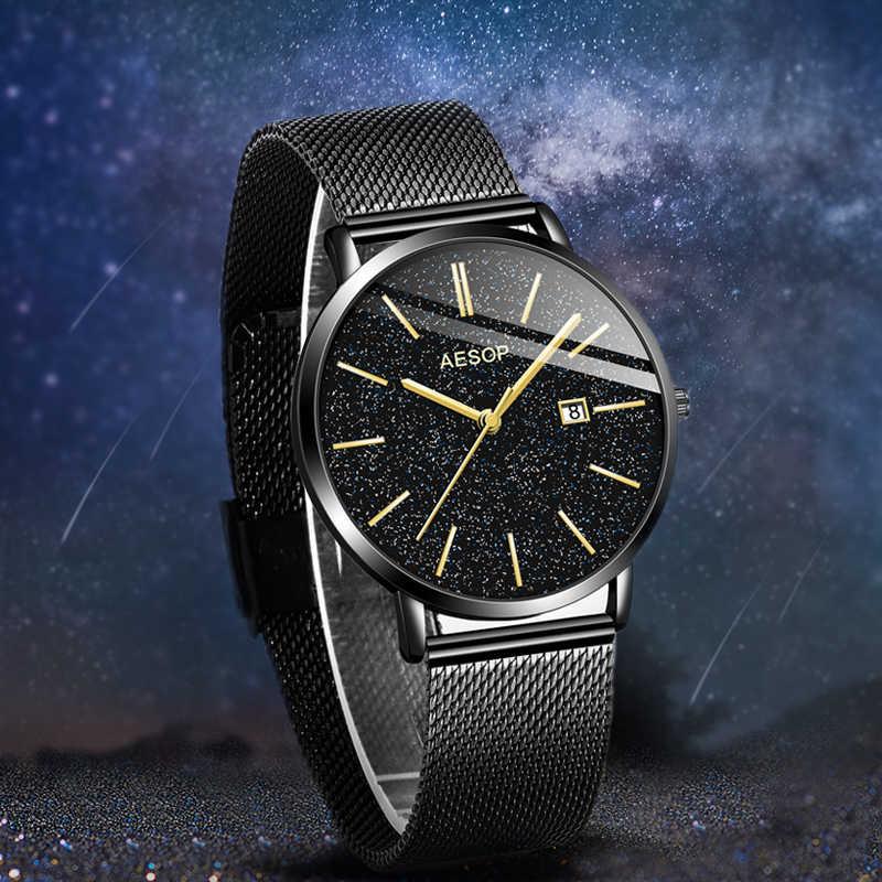 איזופוס Relogio Masculino קוורץ שעון גברים יוקרה למעלה מותג שעונים יוקרה זכר שעון עמיד למים תאריך נירוסטה שעוני יד