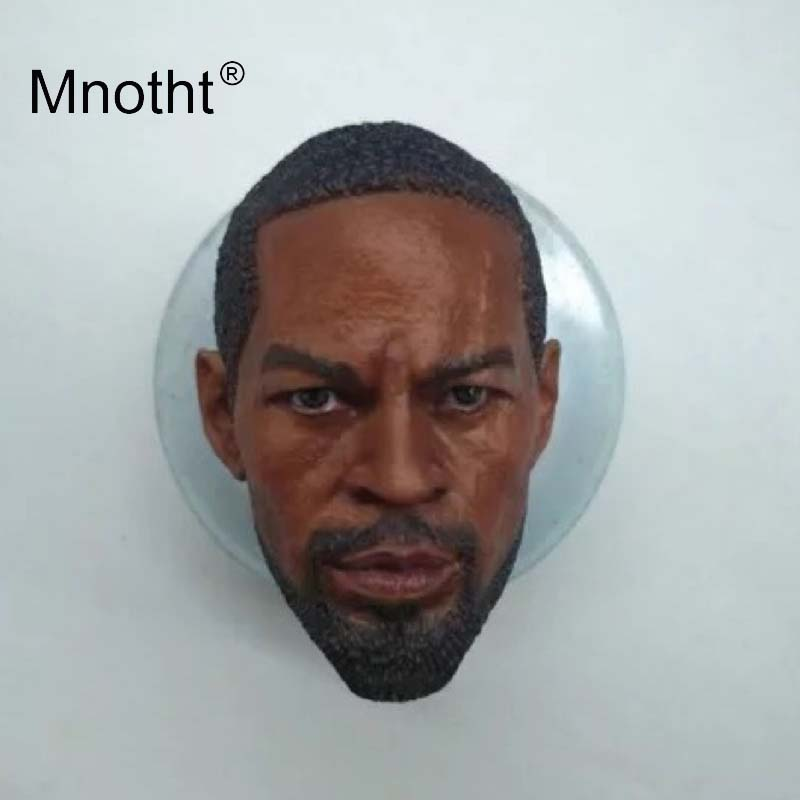 Jamie Foxx Head Carving Resin 1/6 Scale Male Soldier Head Sculpt Film Star Model for 12inch Action Figure Toys Collection Mnotht mnotht head sculpt 1 6 scale ant man paul rudd head sculpt for hot toys phicen male body in stock action