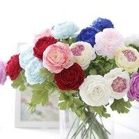 New Artificial Silk Flowers France Peony For Wedding Flowers Home Decor Christmas 1 Piece / 5 Piece Set