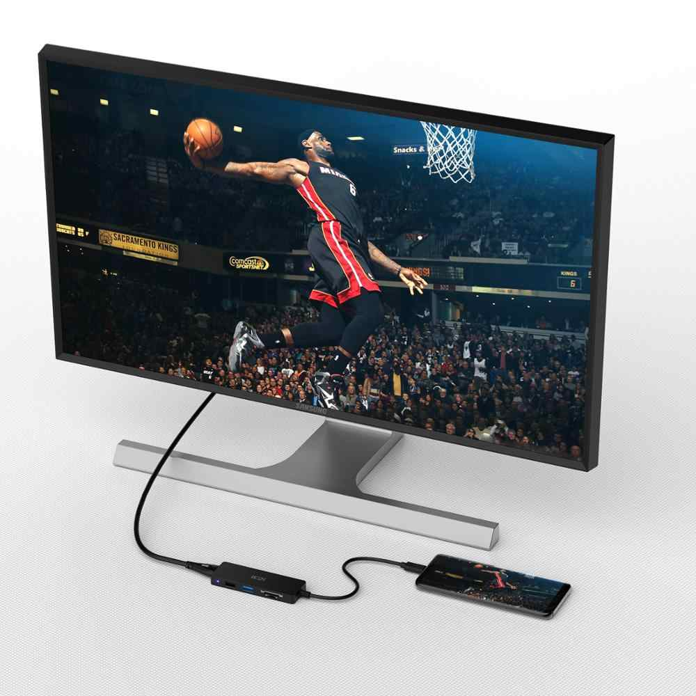 ICZI 4K USB C sang USB USB 3.0 2.0 SD TF Cổng Adapter Loại C sang HDMI Hub dành cho Laptop MacBook Pro Samsung S9 S10