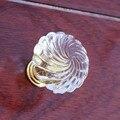 Moda moderno simple clear shell acrílico zapato cajón gabinete maneja perillas perillas tirones dresser puerta de oro