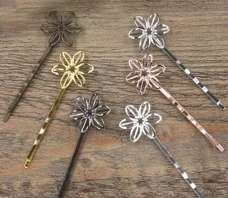 Hair Pin Vintage Hair Pin Bobby Pin Broken China Jewelry Orange Hair Accessory Orange Hair Pin- Orange Bobby Pin Vintage Bobby Pin