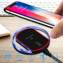 [Qi Wireless Charger 10W] , Wireless Charger LED Charging Pad For Samsung Galaxy S8 S7 S8 Plus Note 8 S6 Edge For iPhone X 10 8