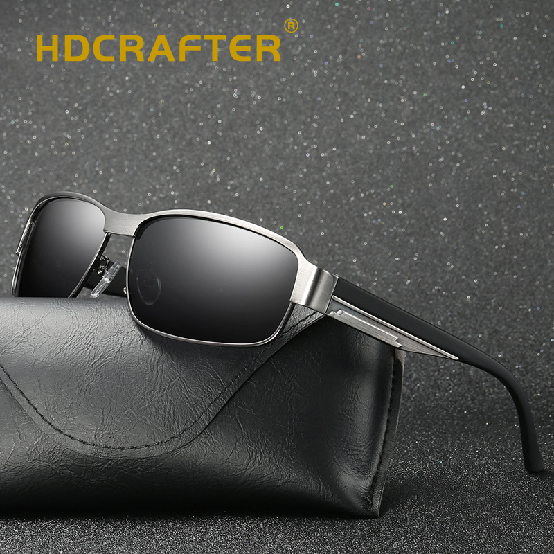 a73aaf1b87534 HDCRAFTER Fashion Driving Sun Glasses for Men Polarized sunglasses UV400  Protection Brand Design Eyewear High Quality Oculos