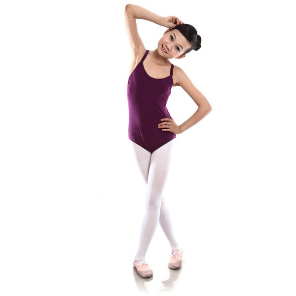 Colorful Double Harness Dance Clothes Children Girl Princess Tight bodybuilding ballet Dresses Shipping From US