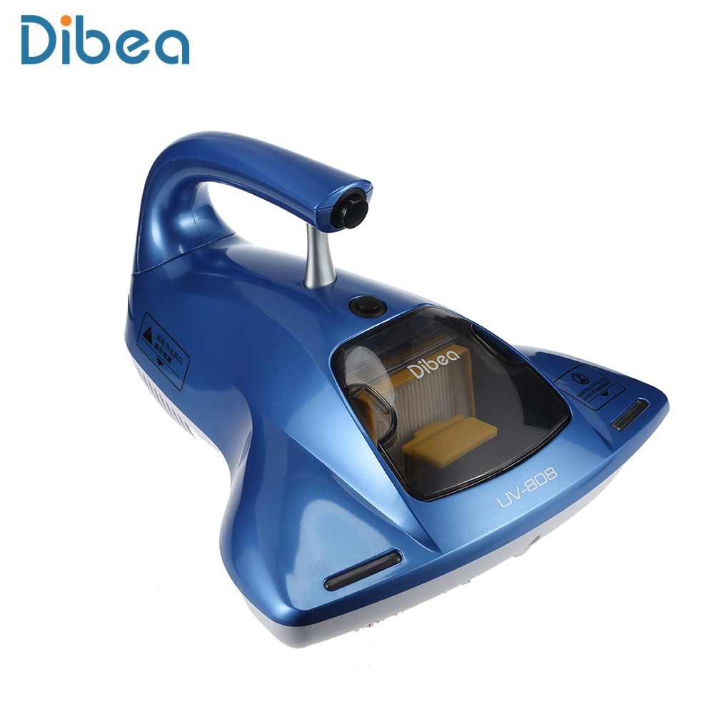 Dibea UV - 808 Handheld Ultraviolet Light Dust Mites Vacuum Cleaner for home cleaning appliances Mites Killing Aspirator ultra quiet push rod vacuum cleaner portable dual use handheld dust collector mites killing device high power home aspirator