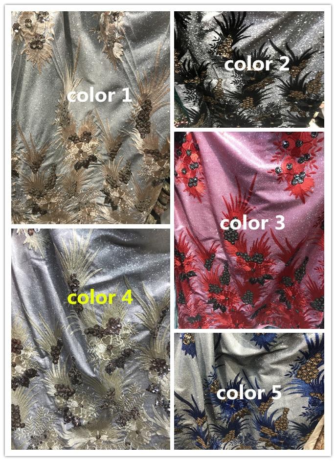 Beau tissu nigérian de David 6.3427 pour la robe de soirée nouveau tissu de dentelle brodé africain-in Dentelle from Maison & Animalerie    1