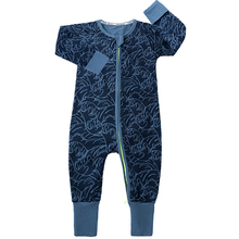 2019 New Newborn Baby Boys Girls Romper Wave Print Long Sleeve Summer Cotton Romper Kids Jumpsuit Playsuit Outfits Baby Clothing newborn kids baby rompers i love daddy jumpsuit boys girls romper long sleeve underwear cotton baby boy clothing summer outfits