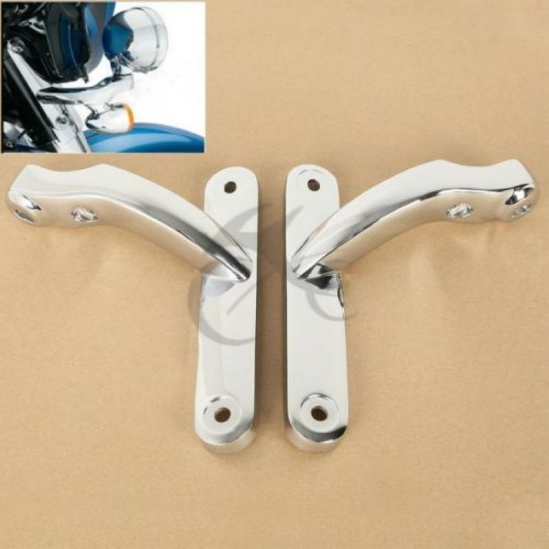 Auxiliary Lighting Brackets Fit For Harley Street Glide FLHXSE3 FLHX Frame Parts 09-16 Chrome Black