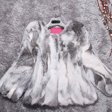 Новинка натуральная Шуба из кролика Рекс натуральный мех жилет натуральный чистый завод Горячая куртка цветное пальто KFP877