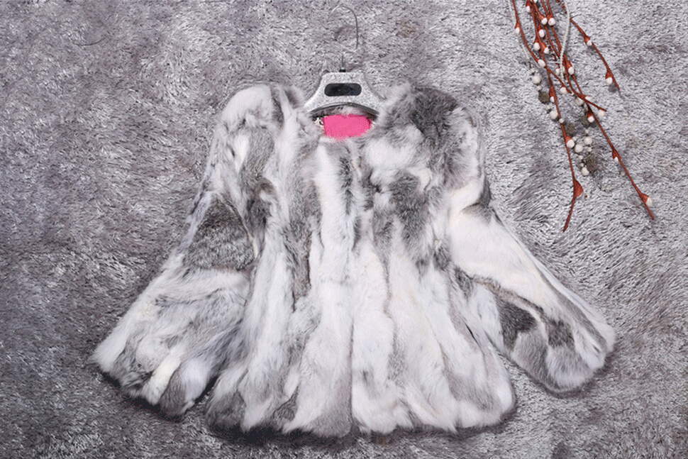 Coat Jacket Real-Fur Colorful Nature Wholesale Genuine New Hot KFP877 Pure-Factory title=