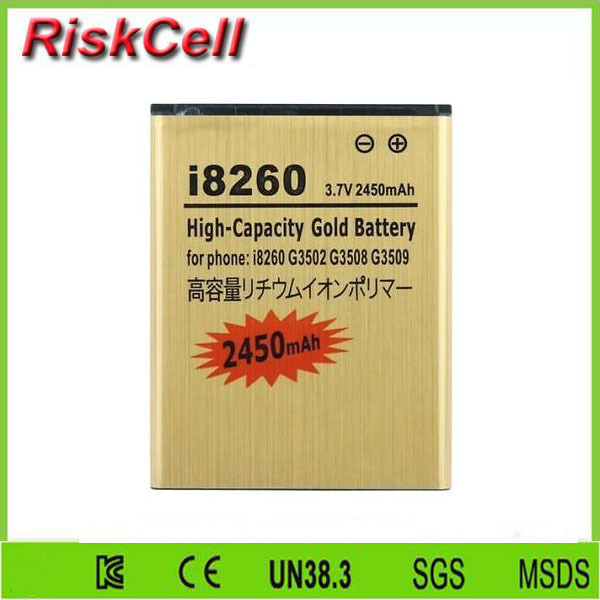 Free customs taxes 100pcs/lot  New Replacement Battery For Samsung Galaxy Core Duos GT-I8260 GT-I8262 B150AE