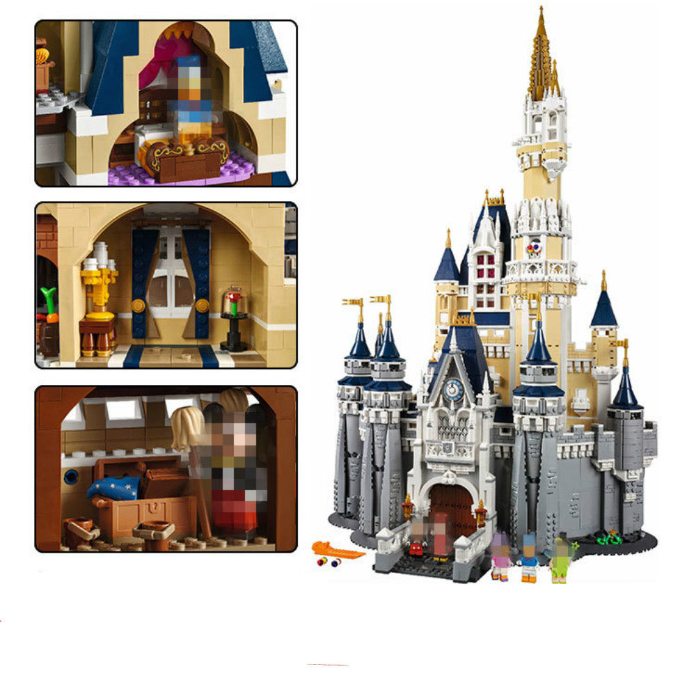 IN STOCK LEPIN 16008 The Cinderella Princess Castle City 4080pcs Model Building Block Kid Toy Gift Compatible FREE DHL hot cinderella princess castle city model building block kid educational brick toy for compatible lepins christmas children gift