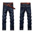 Nuevo Estilo de Negocios Hombre Del Motorista Jeans Hombres homme Fashion Blue Denim Diseño Recto Para Hombre Ropa China Brand Jeans Men hombre