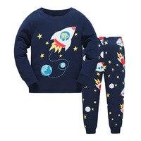 DISCOUNTS New 2018 Brand Cartoon Kid Pyjamas Autumn Winter Boy Minions Pajamas Set Children Pyjamas Christmas