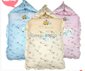 Free shipping 100%cotton autumn and winter newborn infant sleeping bag baby envelope bag sleepsacks 3colors