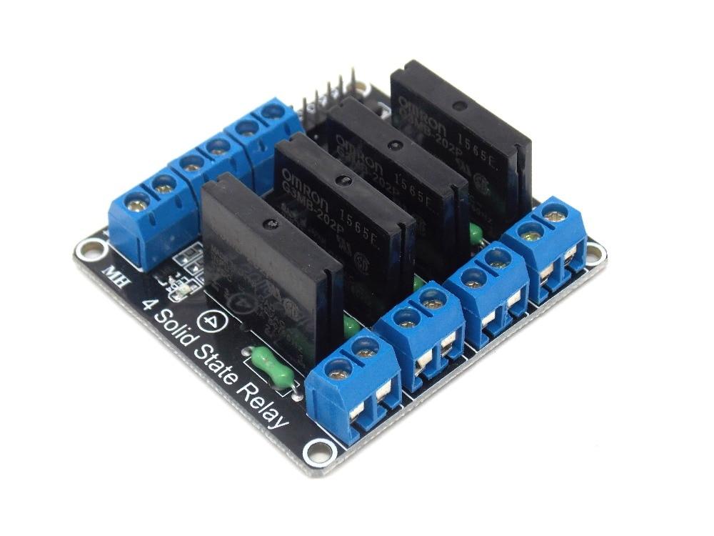 5V 4 canaux Module Relais pour Arduino PIC Arm DSP AVR MSP430 Bleu Ils