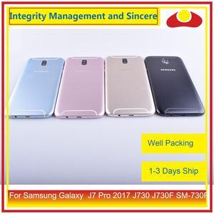 Image 2 - מקורי עבור Samsung Galaxy J7 פרו 2017 J730 J730F SM 730F שיכון סוללה דלת מסגרת חזרה כיסוי מקרה פגז מארז