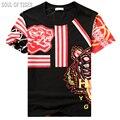 Tigre Impresso Designer De Luxo Mens Verão Camiseta Homme Hip Hop Camisa Masculina Mma Aptidão Homem Engraçado Camisetas Casual Tops Tees
