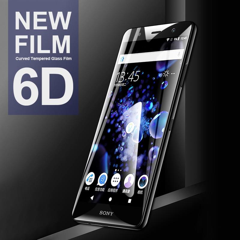 6D Curved Tempered Glass For Sony Xperia 10 XA3 XA2 Ultra XA1 Plus L3 Screen Protector For Sony XZS XZ4 XZ3 XZ2 Premium Compact