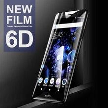 6Dโค้งกระจกนิรภัยสำหรับSony Xperia 10 XA3 XA2 Ultra XA1 Plus L3สำหรับSony XZS XZ4 XZ3 XZ2พรีเมี่ยมขนาดกะทัดรัด