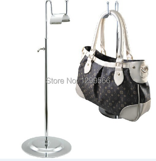 Gentle Wholesale 10pcs Single Curved Hook Adjustable Handbag Display Holder Silk Scarves/tabletop Bag/wig Display Stand Rack Furniture
