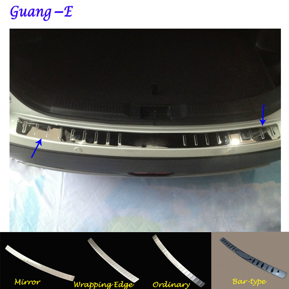 For Suzuki S-cross scross SX4 2014 2015 2016 2017 Car external rear bumper panel trunk trim cover Stainless Steel plate pedal car styling cover detector stainless steel inner built rear bumper protector trim plate pedal 1pcs for su6aru outback 2015