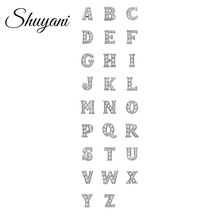 130pcs/lot Free Shipping Crystal Silver Letter Charms Alphabet Letter A-Z Floating Charms For Glass Living Floating Locket