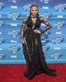 Jennifer Lopez Mangas Compridas Natural Cintura Longo Balck Sexy Ver Através Renda Vestidos de Celebridades