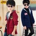Мальчика куртка 2017 новая весна весной и осенью досуг Корейский дети дети куртка