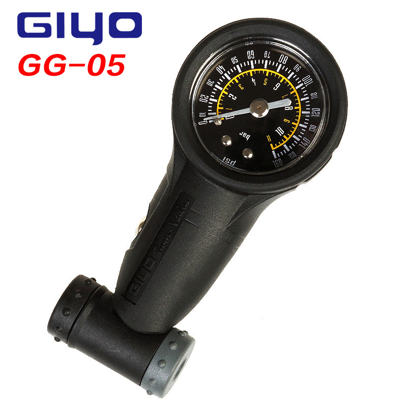 Giyo Bike Reifen Gauge Schrader Presta Ventile Air Manometer Barometer 160 PSI Professionelle Radfahren Zubehör Fahrrad Pumpen