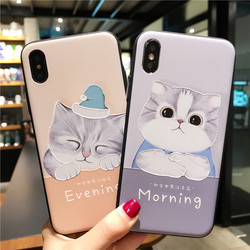 for iPhone 7 Case 3D Cartoon Cat Ear Capinha Case iphone 6Plus Silicone Soft TPU for iPhone x 6 7 8 plus 4