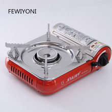 FEWIYONI Camping portable mini outdoor gas stove BBQ hiking picnic camping equipment