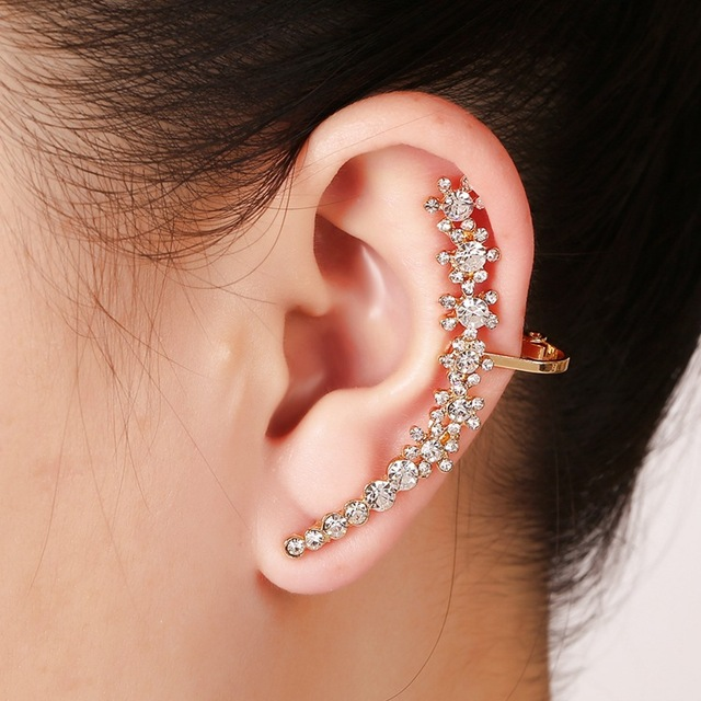 1piece Cool Fashion Simplicity Designed Alloy Stick Ear Auricle Piercing Cuff Earrings Brinco De Meninas