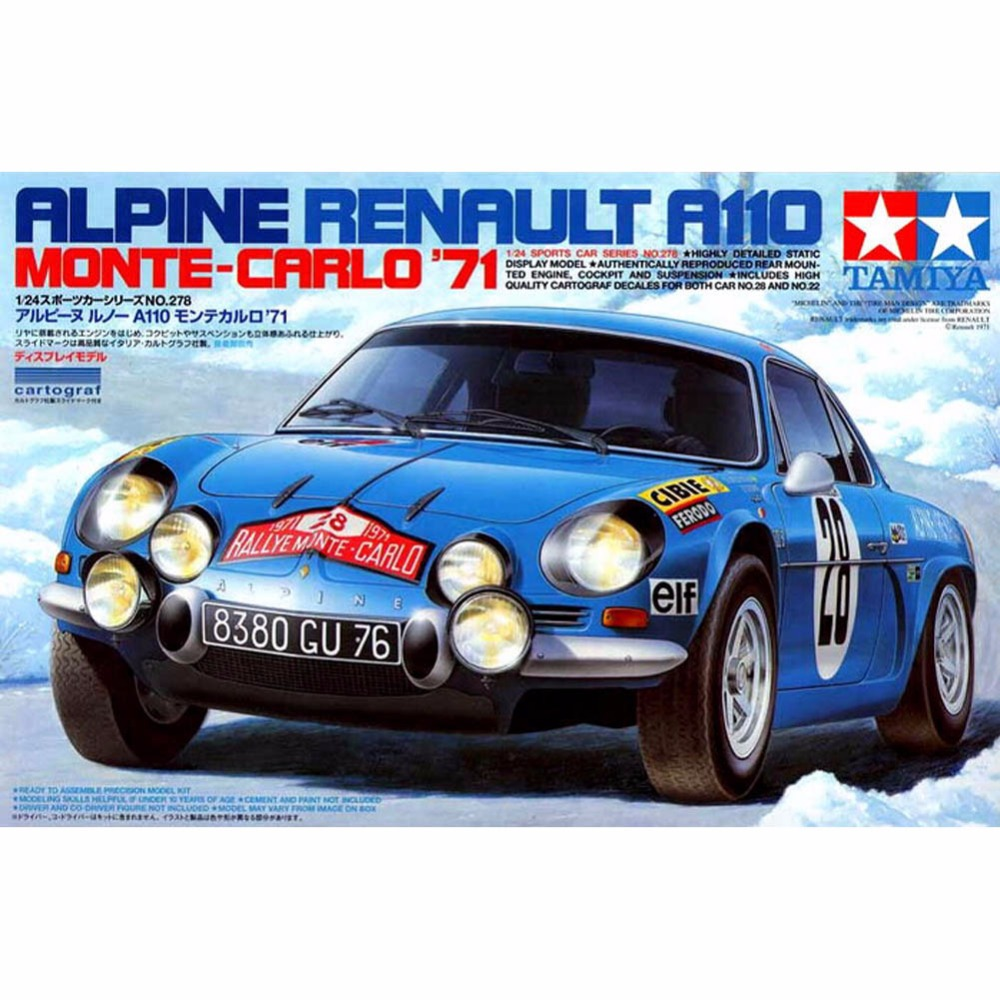 OHS Tamiya 24278 1/24 Alpine A110 - Monte Carlo Car Model Building Kits кроссовки reebok gl6000 m41775