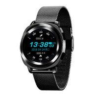 L2 Smart Watch Fitness Tracker Fashion Sport Bracelet IP68 Waterproof Heart Rate Steel Silicone Strap Twitter Facebook allowed