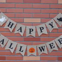 Happy Halloween Witch вечерние украшения льняной овсянка берджи