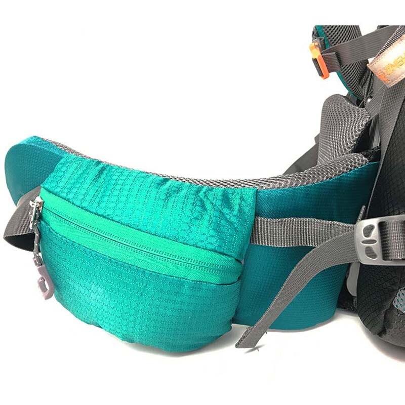 Mochila 80L para escalar al aire libre mochila táctica camping senderismo mochilas bolsa de nailon Marco de aleación de aluminio mochila de viaje - 6