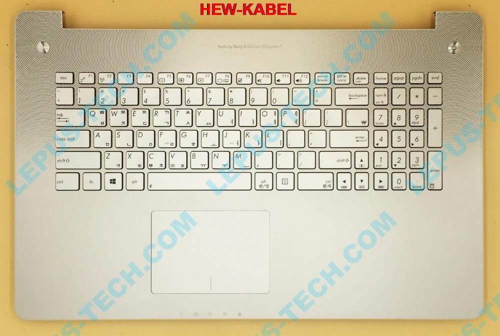 KR Keyboard For ASUS N750 N750JK N750JV With Top Case Palmrest Korean Layout