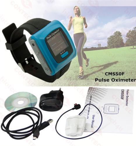 USA Warehouse Shipping-CE FDA NEW Wrist Wearable Digital Pulse Oximeter CMS 50F with Sleep Study.CONTEC