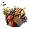 2016 New Style Name Credit Card Holder Candy Colors PU Bank Card Neck Strap Card Bus ID Holders Identity Badge with Lanyard