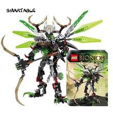 Smartable BIONICLE 261pcs Umarak Uxar figures 612 2 Building Block Toys For Boys Compatible legoing 71310